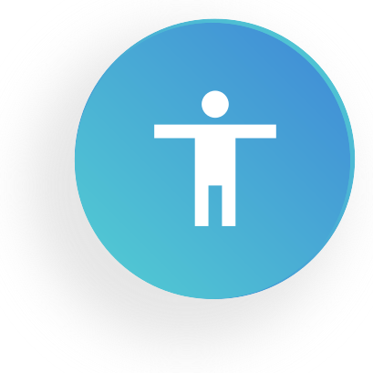 Round Icon with Person in the center