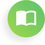 Round Icon with book