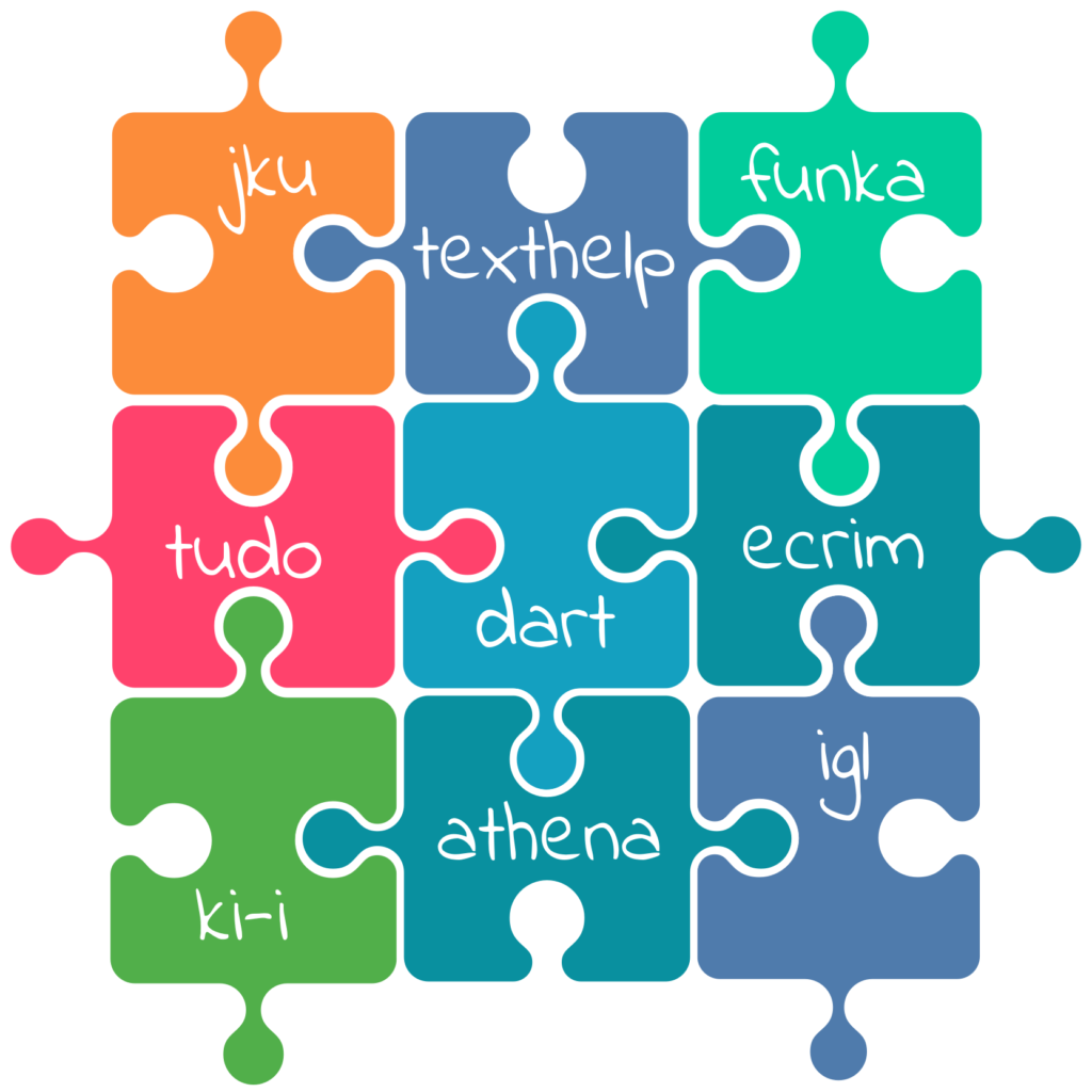 Puzzle with names of all partners