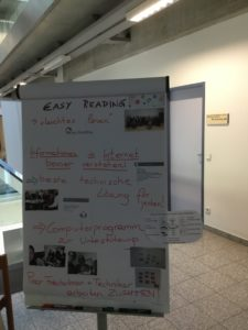 the workshop results are presented on a flipchart