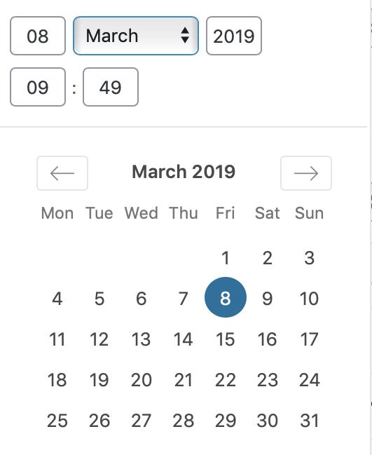Kalender picker