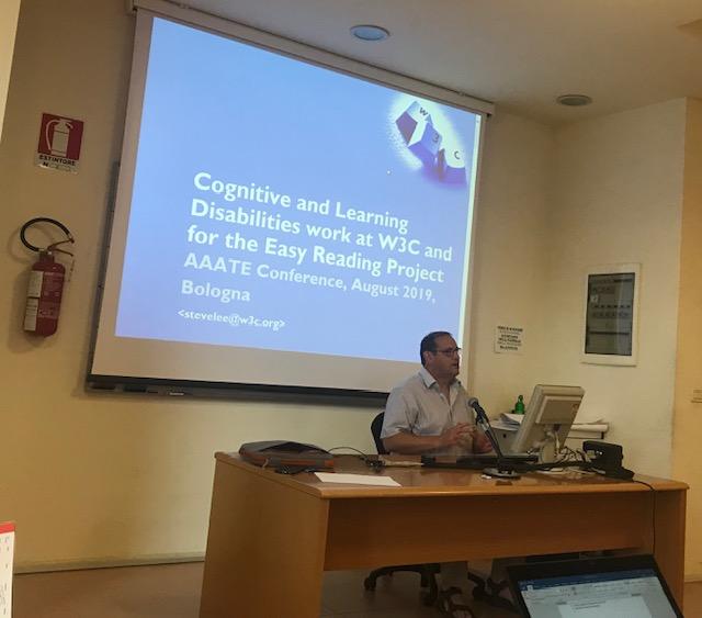 Steve Lee presenting