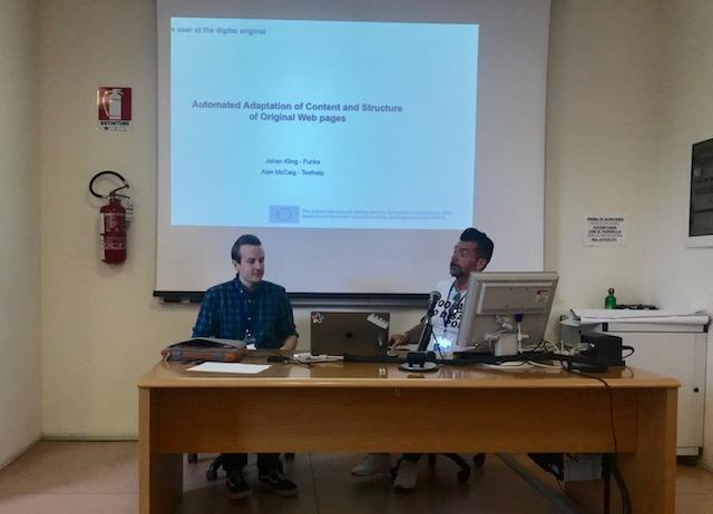 Johan Kling and Alan McCaig presenting