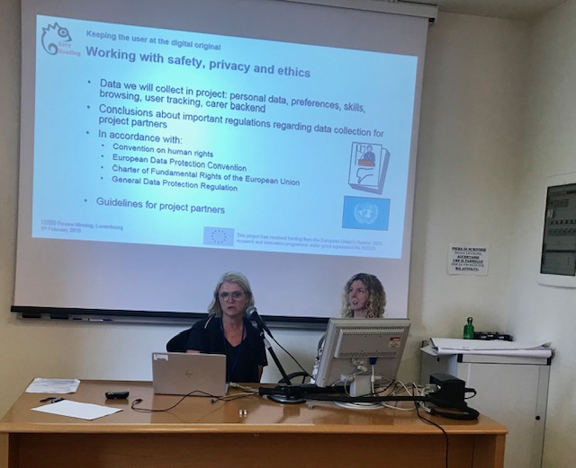 Sandra Derbring presenting