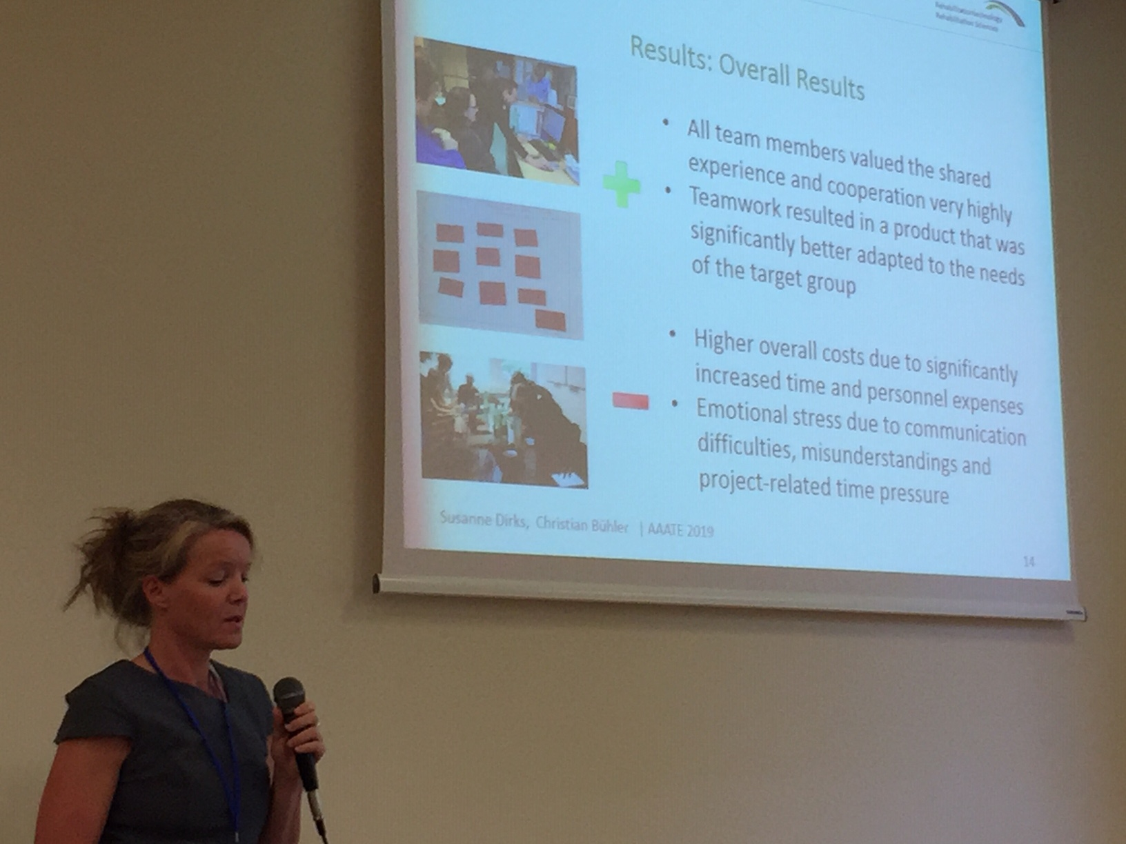 Susanne Dirks presenting