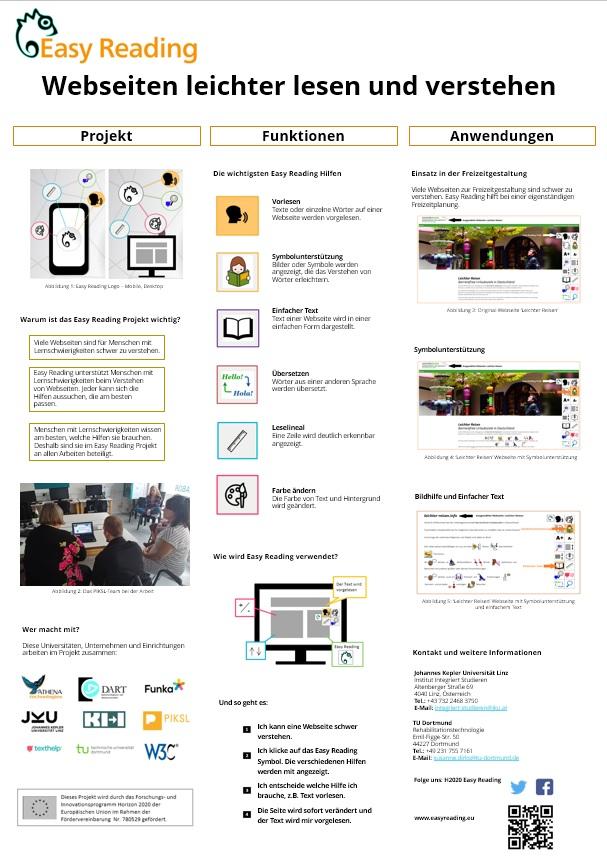 Poster über das Projekt, Funktionen und Anwendungen