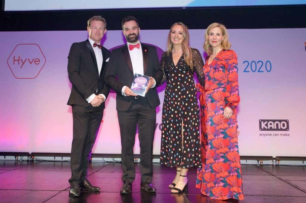 Texthelp receiving the BETT award