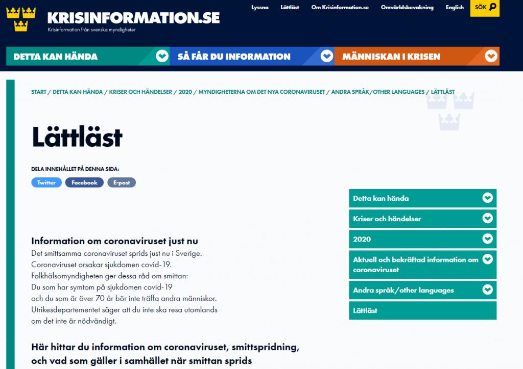Lättläst - Krisinformation.se