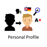 How can you create a personal profile in Easy Reading?